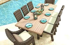 wood outdoor dining table faux wood outdoor dining table wicker outdoor dining furniture with faux wood