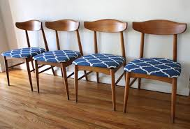 set of 4 dining chairs. SY355 .jpg Set Of 4 Dining Chairs 16 Mcm Chair Blue Seats 1.jpgw3505h2389 G