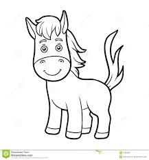 Libro Da Colorare Pagina Di Coloritura Cavallo Illustrazione