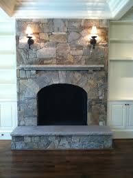 interior stone fireplace profile