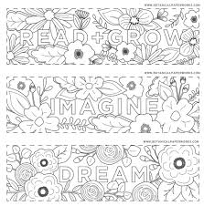 Repetition is a powerful tool for learning certain things in a new language. Free Printables Read Grow Coloring Bookmarks For Back To School Botanical Paperworks