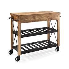 Crosley Furniture Kitchen Cart Roots Rack Natural Industrial Kitchen Cart Crosley Furniture
