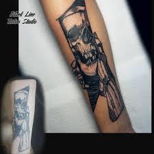 тату чита Black Line Tattoo в инстаграм