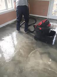 rinse the soap from the floor and vacuum it up