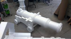 pirate cannon made with hot wire cnc machine