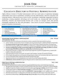 Sports Marketing Resume Samples Best Of Athletic Director Resume Example Football Sports Management