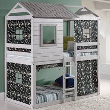 Light Pine Bedroom Furniture Awesome Bunk Beds For Kids Light Gray Colour Brazilian Pine Wood