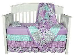 baby crib bedding set zoe piece purple girls nursery infant gift girl cribs new handmade newborn