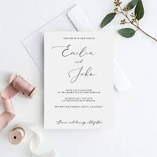 Wedding Invitation Template Elegant Wedding Invitation Template Elegant Classy Wedding Invitation Printable Edit Text And Colors Yourself Calligraphy Font Wedding