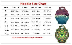 Hoodie Now Size Chart American Eu Standard Hoodies And