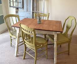 vine small kitchen table with four miss matched chairs 499 00 via etsy