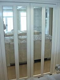 mirror bifold closet doors mirrored installation