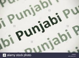 Punjabi Language Word Punjabi Language Printed On White Paper Macro Stock Photo