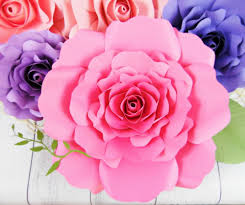 picture of diy giant paper rose tutorial eden style template