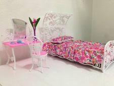 barbie size dollhouse furniture sweet dream bed room play set barbie dollhouse furniture sets