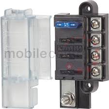fuse holders and distribution boxes led lights marker truck led blue sea 5045 4 way standard blade fuse box lid and single power input terminal