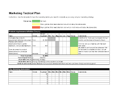 Sales Plan Document Tactical Marketing Plan Worksheet Excel