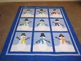 Snowman quilt & table topper &  Adamdwight.com
