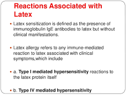 Latex allergy and its management