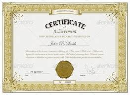 Free Printable Editable Certificates Impressive Gold Retro Certificate Template Vector EPS Download Here Http