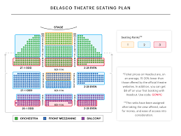 Sixth And I Seating Chart Belasco Theatre Seating Chart Best Seats Insider Tips