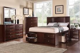 Modern California King Bed Frame W/ 6 Storage Drawers