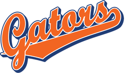 Team Pride: Gators team script logo