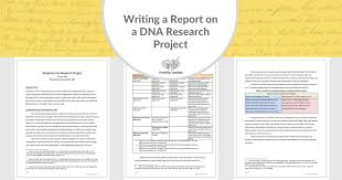 My Report Writing A Research Report On A Dna Research Project Family