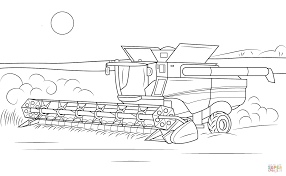 John Deere Combine Coloring Pages Combine Coloring Page To For