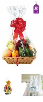 gift basket bags cellophane clear large wrapping packaging holiday