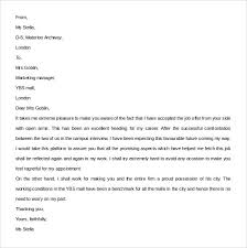 letter of job acceptance sample job acceptance letter 14 free documents in pdf word