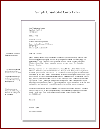 Sample Cover Letter Unsolicited Resume Granitestateartsmarket Com