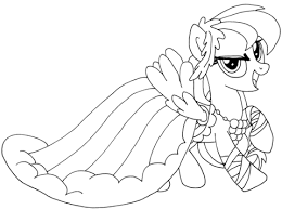 My Little Pony Rainbow Dash Coloring Page Free Printable Coloring