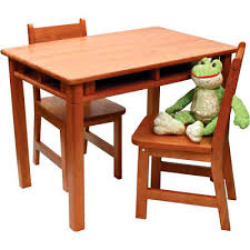 new lipper 534p childrens rectangular table and chair set table chair rect pecan