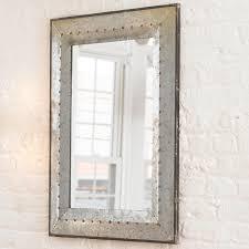 Metal Industrial Rivet Mirror Discover More Ideas About Industrial - Trim around bathroom mirror
