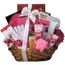 spa birthday gift basket for women