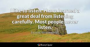 Listening Quotes Gorgeous Listening Quotes BrainyQuote