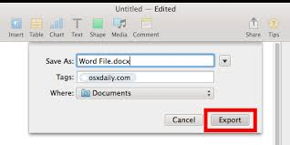 What Is Another Word For Document How To Save Pages Files As Word Document Format From Mac