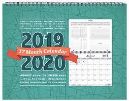 17 Month Calendar Stc 17 Academic Planner Calendar 8 5 X 11 Inches