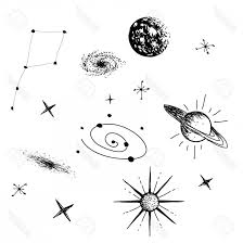 Photostock Vector Vector Illustration Of Universe With Galaxy