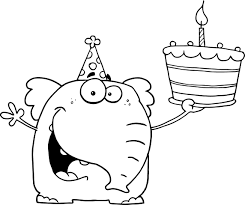 Small Picture Happy Birthday Coloring Pages With Balloons For Kids And Birthday