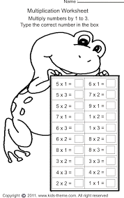 Multiplication Worksheets - Multiply Numbers by 1 to 3