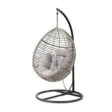 weller outdoor wicker basket swing chair with stand