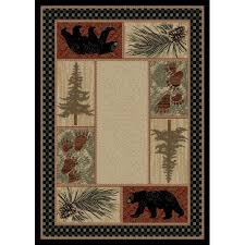 5 x 7 medium red and beige cades cove area rug american destinations rc willey furniture