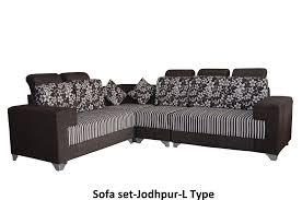 sofa set. Jodhpur Sofa Set L Type - Living Room Furniture Online