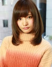 大人かわいい小顔セミロングレイヤーhi 212 ヘアカタログ髪型 40