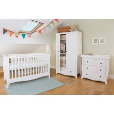 nursery with white furniture. Little House Brampton 3 Piece White Nursery Furniture Set With P