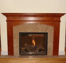 image of gas fireplace mantel designs