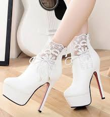 diy classy high heels with lace detail