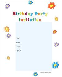 Print Birthday Invitation Free Birthday Party Invitations For Kids To Print Cryptoforpak